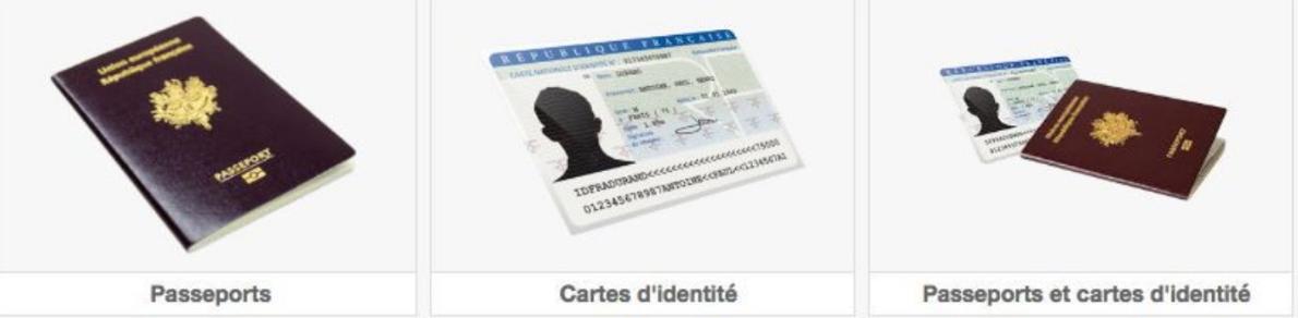 Photographies de cartes d'identités et passeports