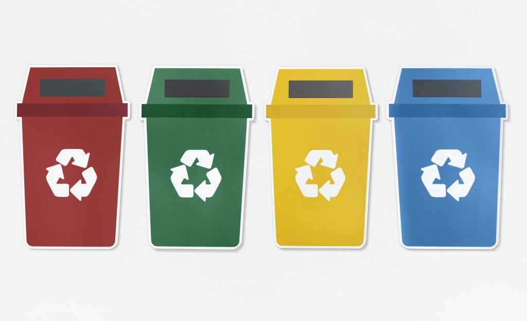 Les différentes poubelles